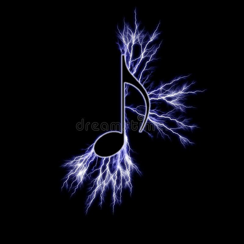 elektryczny muzyczny symbol ilustracja wektor