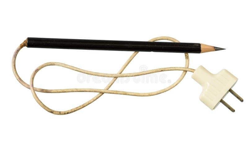 Elektryczny ołówek zdjęcia royalty free