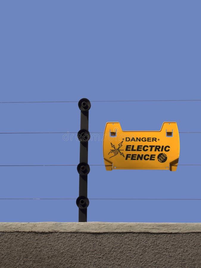 Elektryczny ogrodzenie zdjęcia royalty free