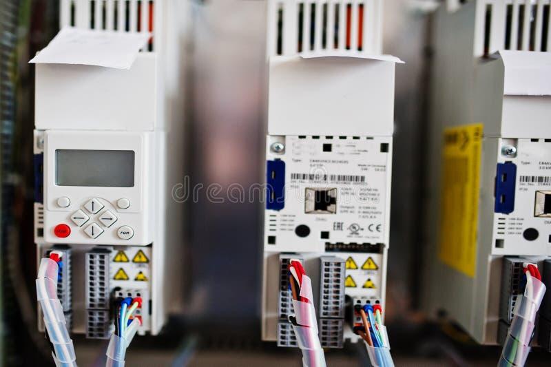 Elektryczny panel, elektryczny metr i obwodów łamacze, elektryczny zdjęcia stock