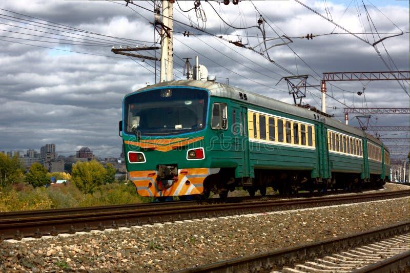Elektryczny pociąg zdjęcie stock