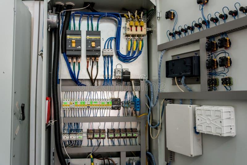 Elektryczny przełącznikowy gabinet zdjęcie royalty free