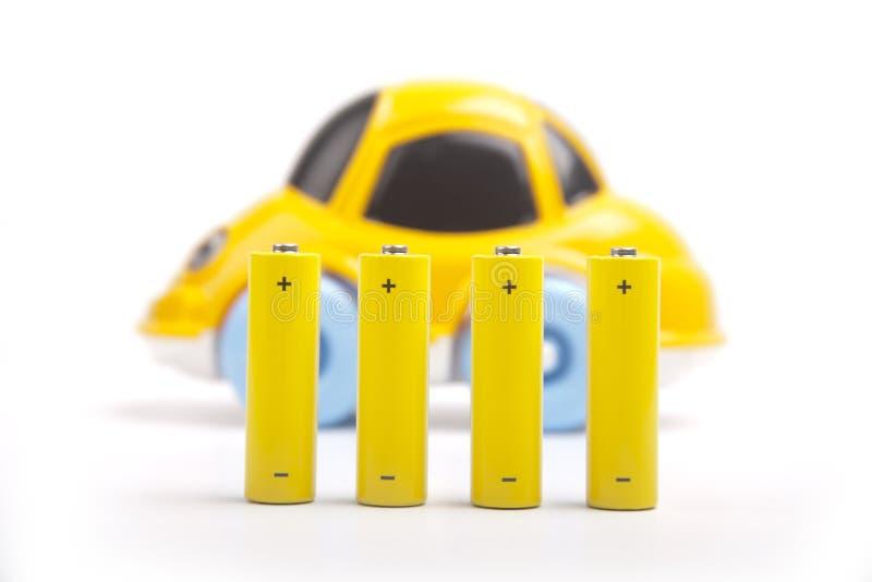 Elektryczny samochód Odizolowywający obraz stock