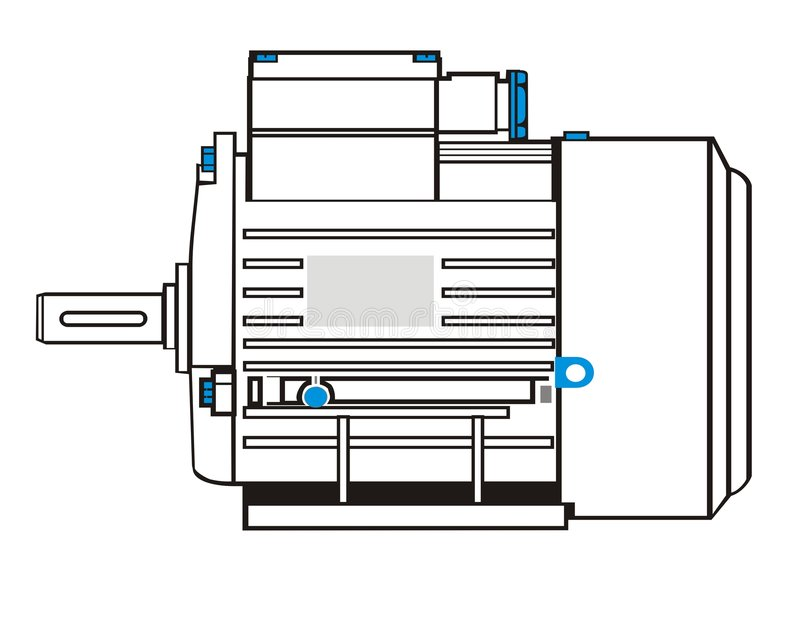 elektryczny silnik royalty ilustracja