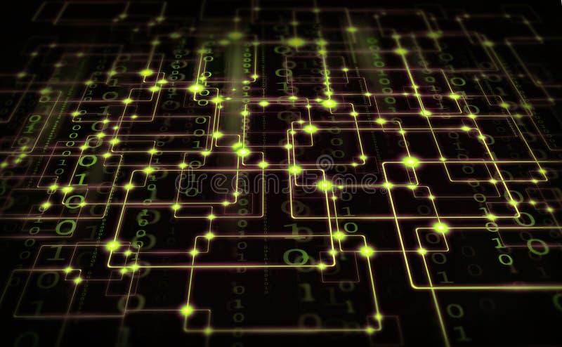 Elektryczny synapse ilustracji