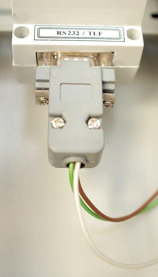 Elektryczny włącznik łączy kolektory zdjęcie stock