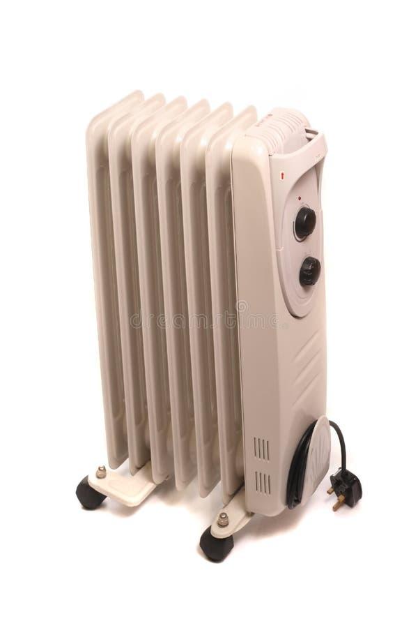 elektryczny wypełniający gorący nafciany grzejnik fotografia stock