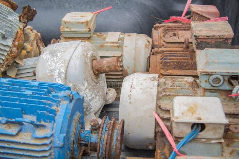 Elektrycznych silników odpady obraz stock