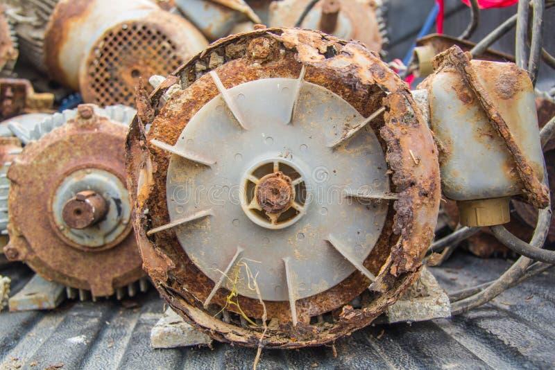 Elektrycznych silników odpady fotografia royalty free