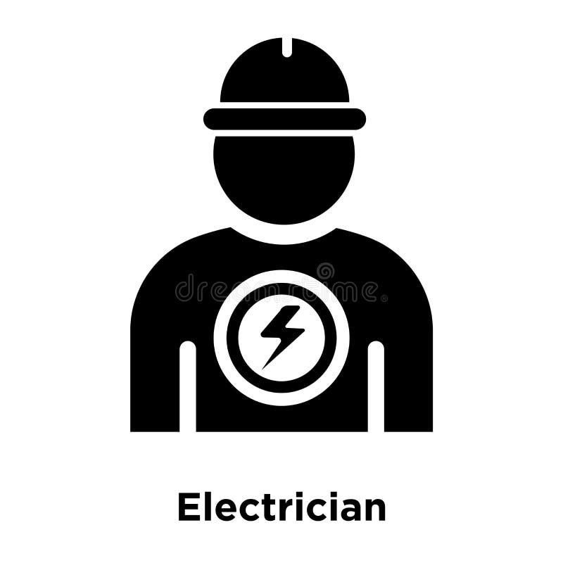 Elektryk ikony wektor odizolowywający na białym tle, loga conce ilustracji