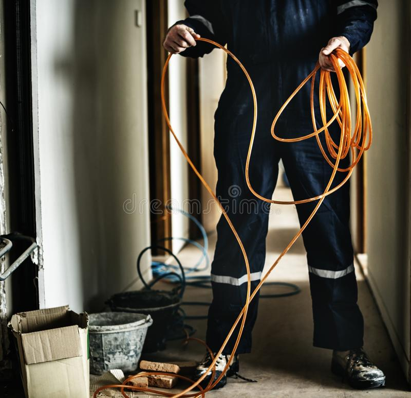 Elektryka działania domu naprawy instalacja obrazy royalty free