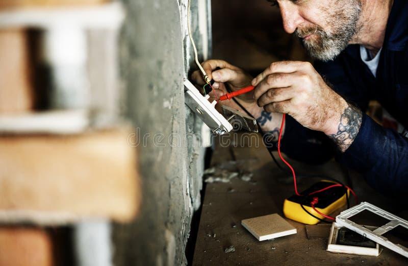 Elektryka działania domu naprawy instalacja zdjęcie royalty free