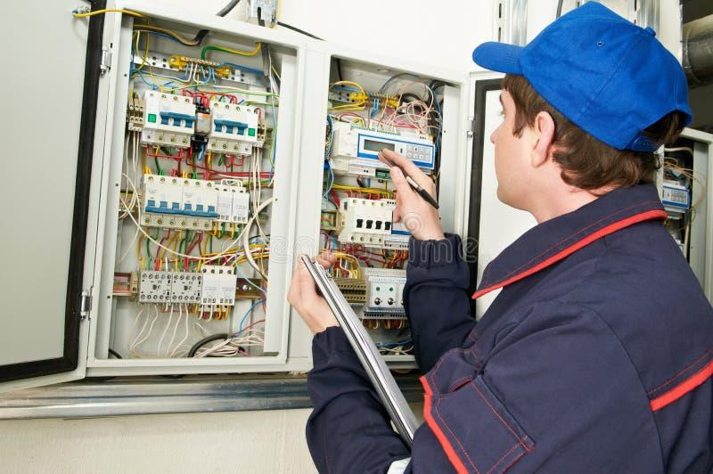 Elektryka inżyniera pracownik obraz stock