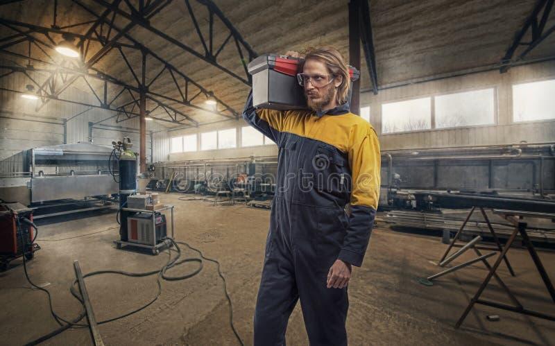 Elektryka pracownik obraz stock