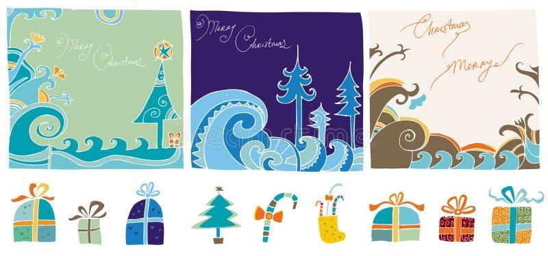 Elem editable do projeto do Natal ilustração do vetor