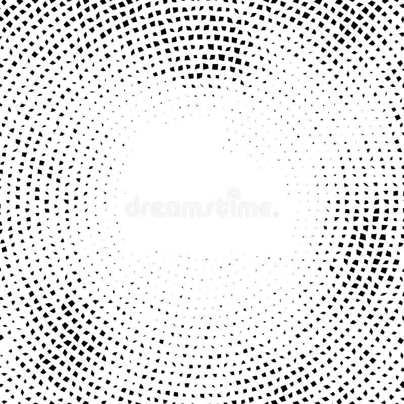 Elemens вектора полутонового изображения Влияние полутонового изображения концепция предпосылки Текстура виньетки Передернутые кв иллюстрация штока