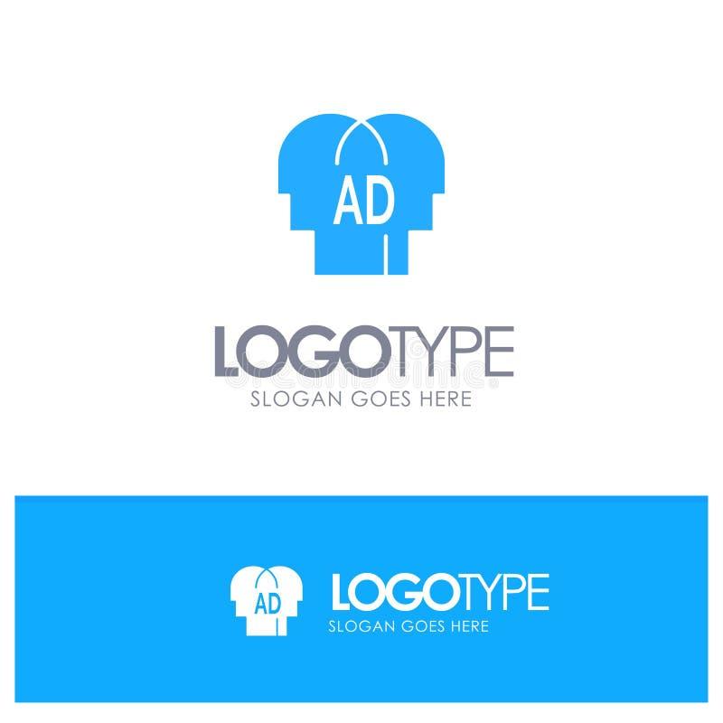 Elementärt kunskap, Abc, Brian Blue Solid Logo med stället för tagline royaltyfri illustrationer