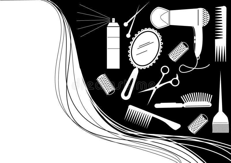 elementów fryzury salonu wektor ilustracja wektor