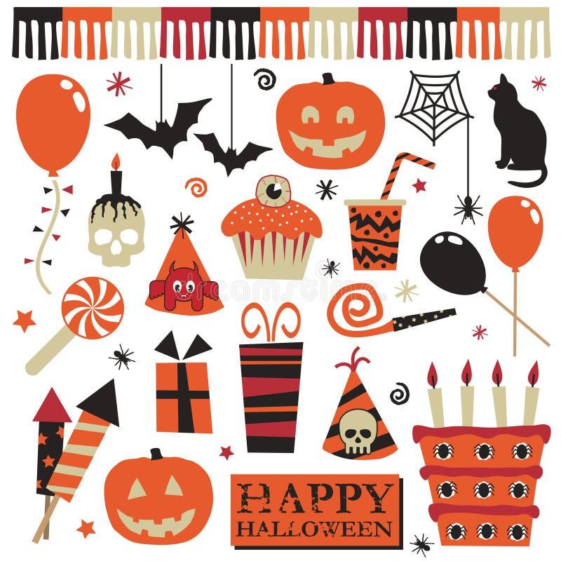 elementów Halloween przyjęcie ilustracji