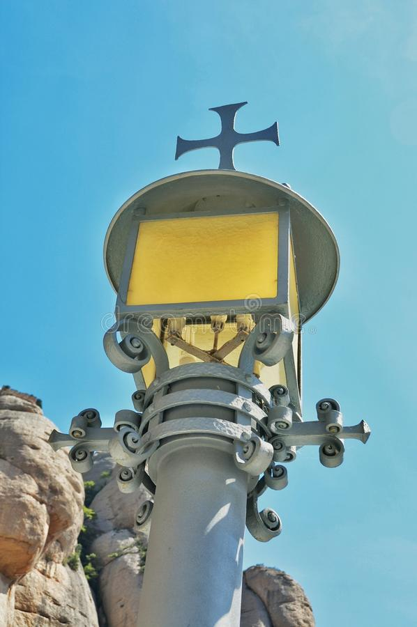Elementów i szczegółów monaster Montserrat obrazy royalty free