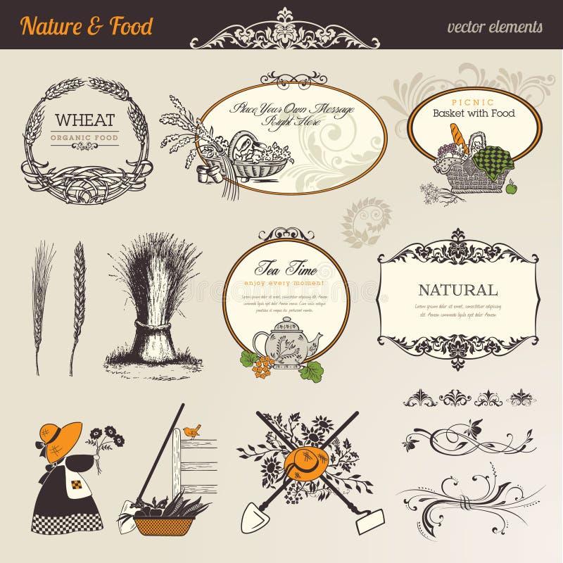 elementów karmowy natury wektor royalty ilustracja