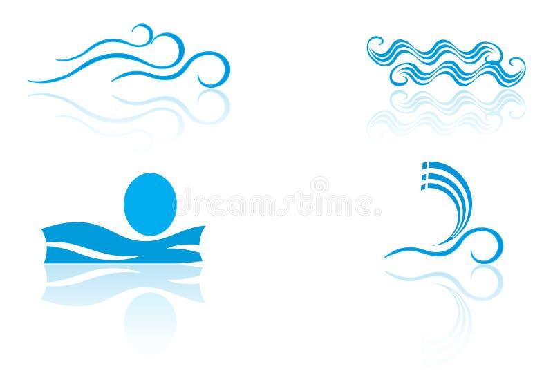elementów loga morze royalty ilustracja
