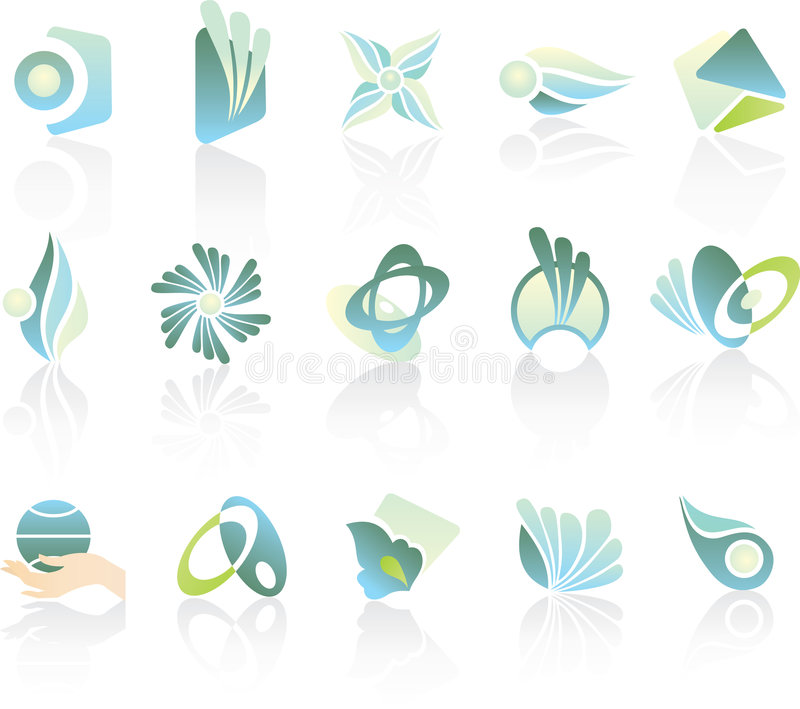 elementów loga set royalty ilustracja