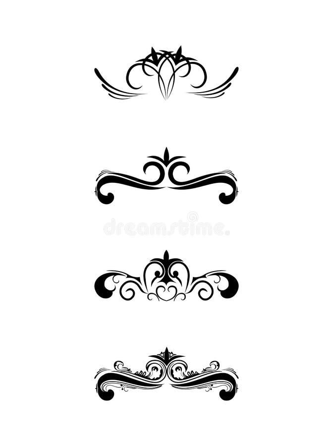 elementów monogramów zawijas ilustracji