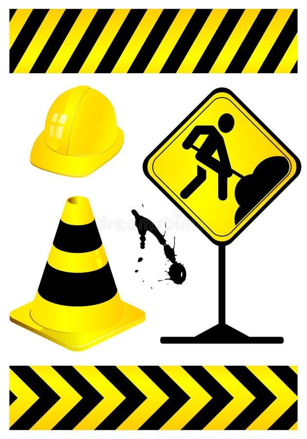 Element in aanbouw stock illustratie
