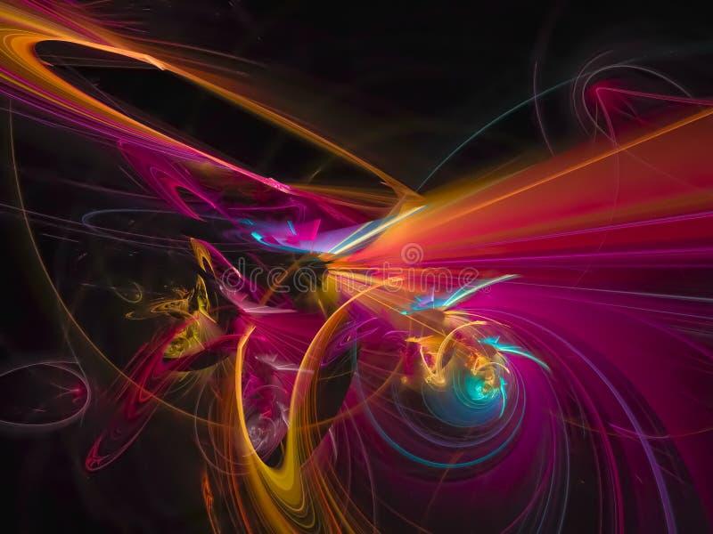 Abstract digital fractal, creative color design card element. Element abstract digital fractal, creative color design card vector illustration