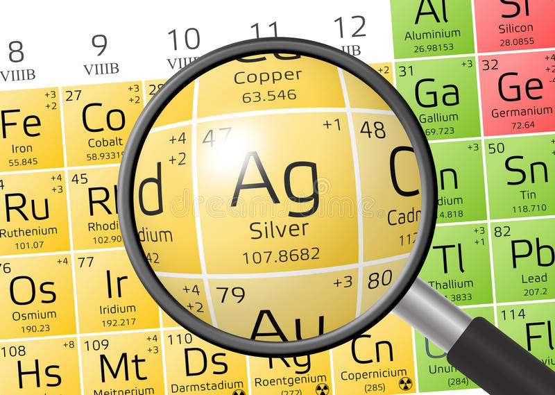 Element of argentum or silver with magnifying glass stock download element of argentum or silver with magnifying glass stock illustration illustration of physics urtaz Image collections