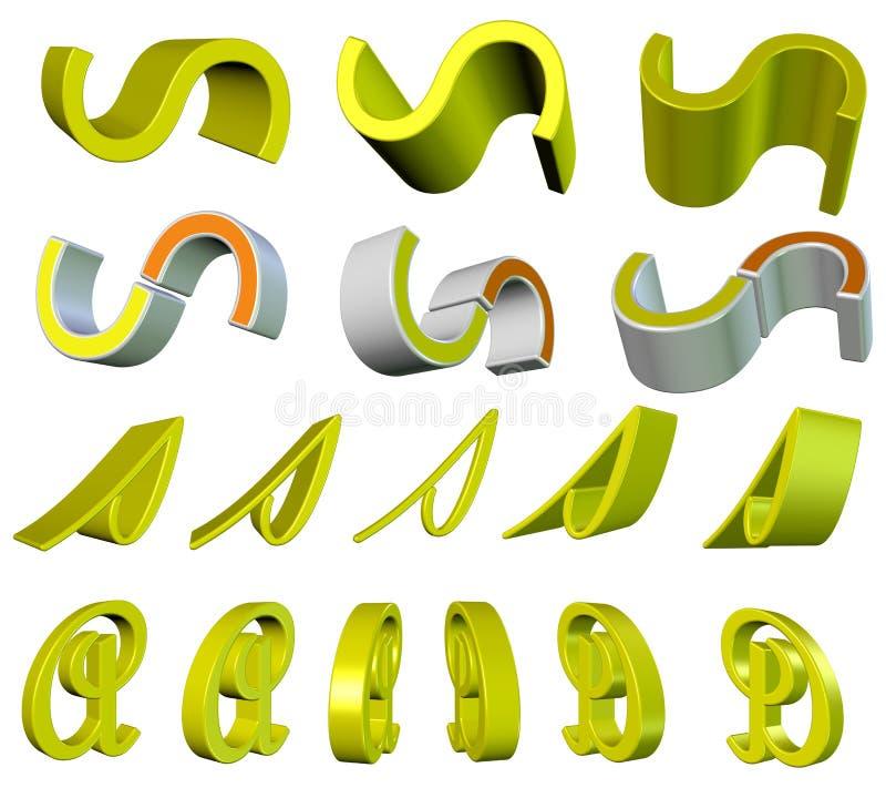 element blandade vektor illustrationer