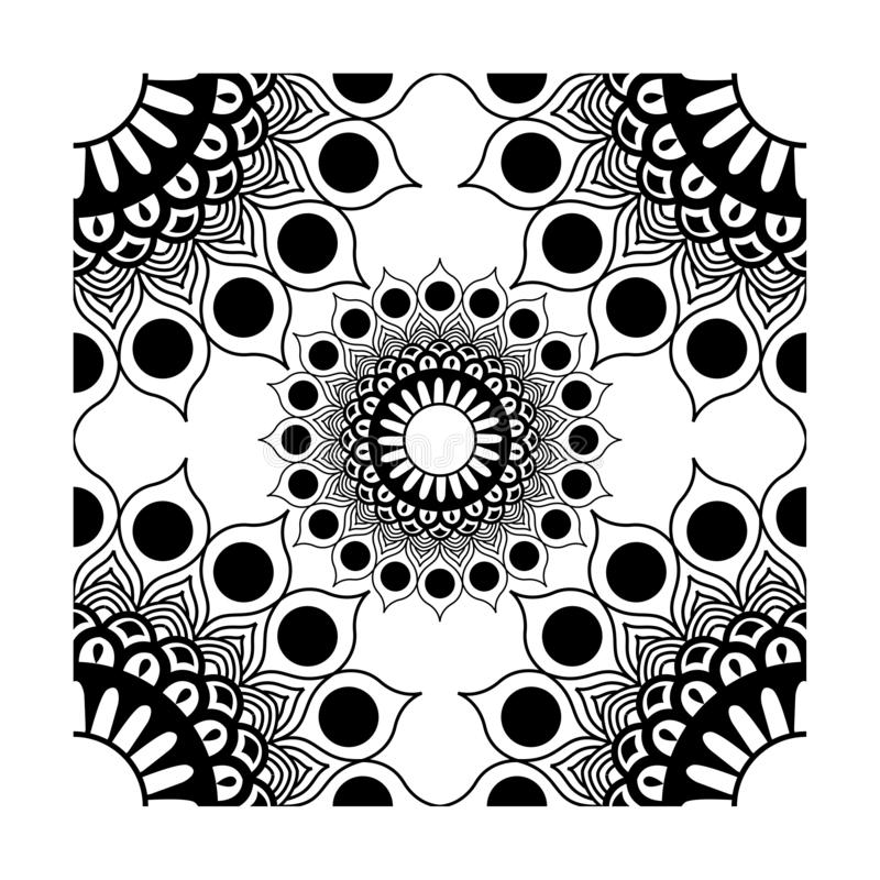 Element Corner Decorations Vector Black. Can be used for texture fabric or etc vector illustration