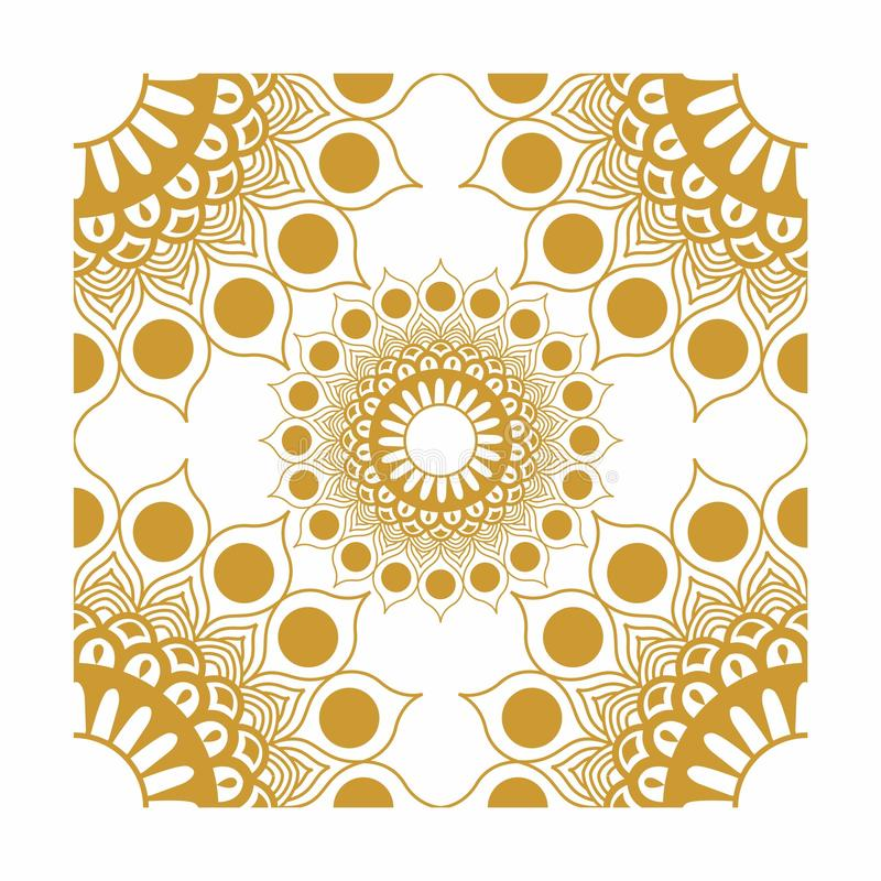 Element Corner Decorations Vector Gold. Can be used for texture fabric or etc royalty free illustration