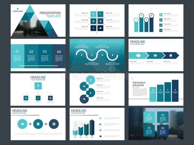 Element-Darstellungsschablone blauen Dreieck Bündels infographic Geschäftsjahresbericht, Broschüre, Broschüre, Reklamehandzettel, stock abbildung