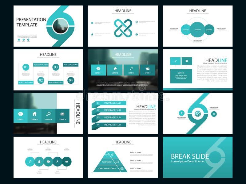 Element-Darstellungsschablone des blauen Bündels infographic Geschäftsjahresbericht, Broschüre, Broschüre, Reklamehandzettel, vektor abbildung