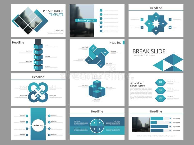 Element-Darstellungsschablone des blauen quadratischen Bündels infographic Geschäftsjahresbericht, Broschüre, Broschüre, Reklameh stock abbildung