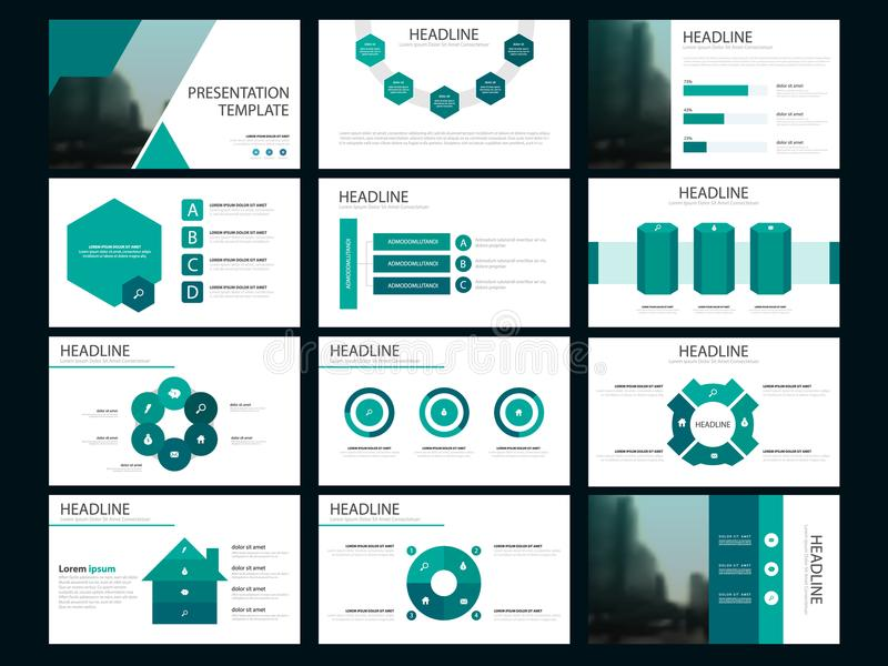 Element-Darstellungsschablone des grünen Bündels infographic Geschäftsjahresbericht, Broschüre, Broschüre, Reklamehandzettel, vektor abbildung