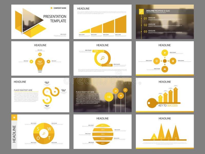 Element-Darstellungsschablone gelben Dreieck Bündels infographic Geschäftsjahresbericht, Broschüre, Broschüre, Reklamehandzettel, stock abbildung