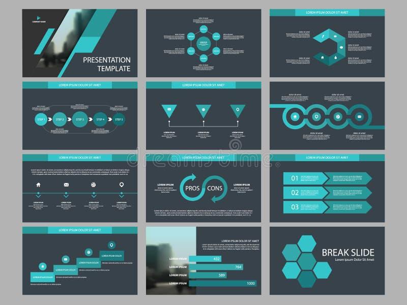 Element-Darstellungsschablone grünen Dreieck Bündels infographic Geschäftsjahresbericht, Broschüre, Broschüre, Reklamehandzettel, lizenzfreie abbildung