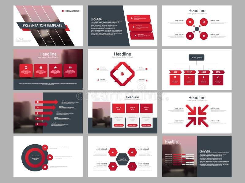 Element-Darstellungsschablone roten Dreieck Bündels infographic Geschäftsjahresbericht, Broschüre, Broschüre, Reklamehandzettel, lizenzfreie abbildung
