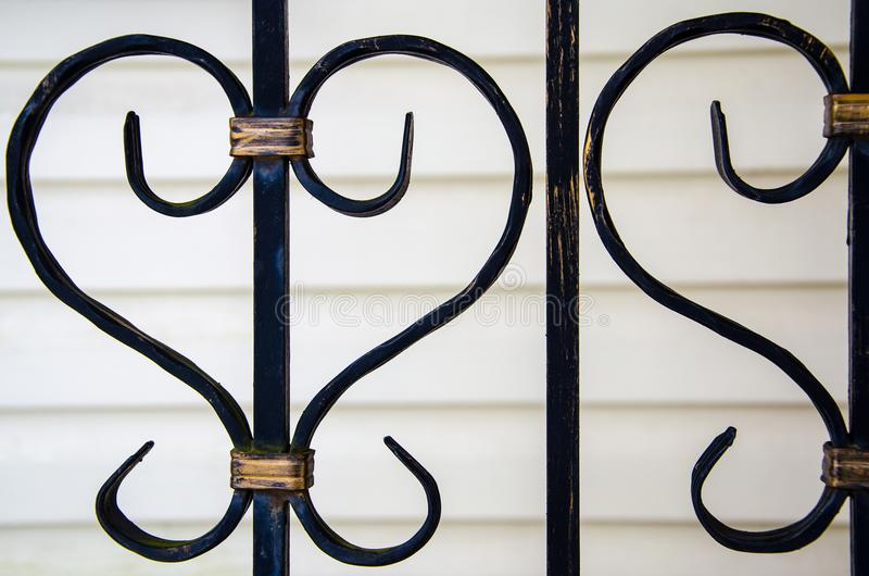Element des dekorativen Metallgitters stockfotografie