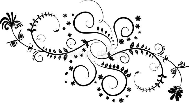 Element for design, corner flower, vector stock images