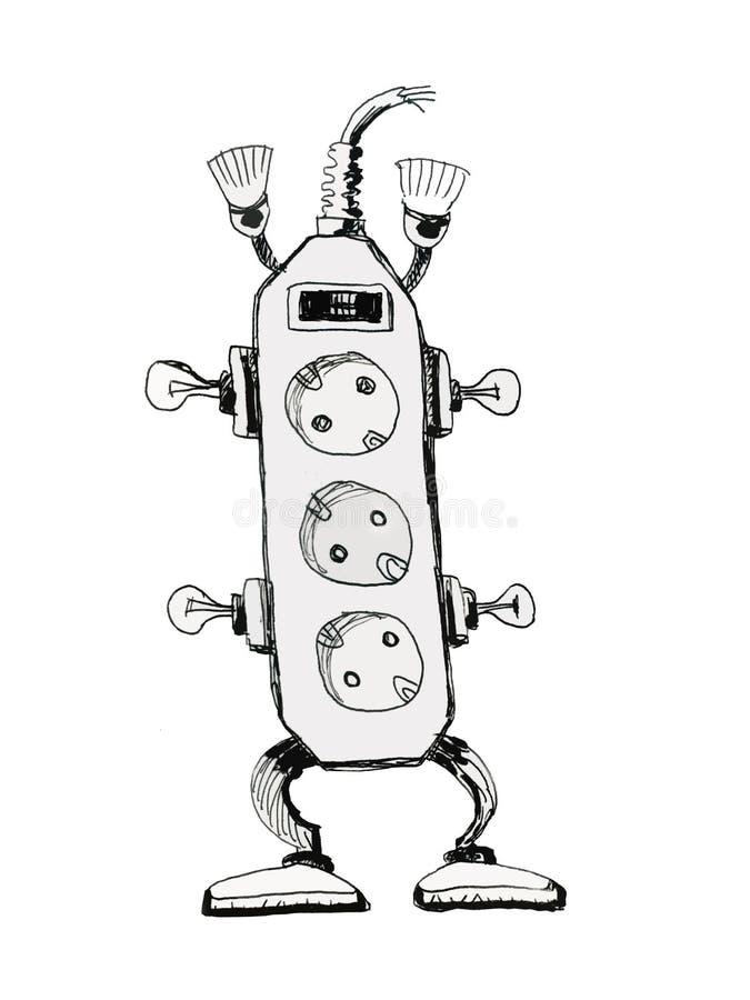 robot electrician stock illustration  illustration of