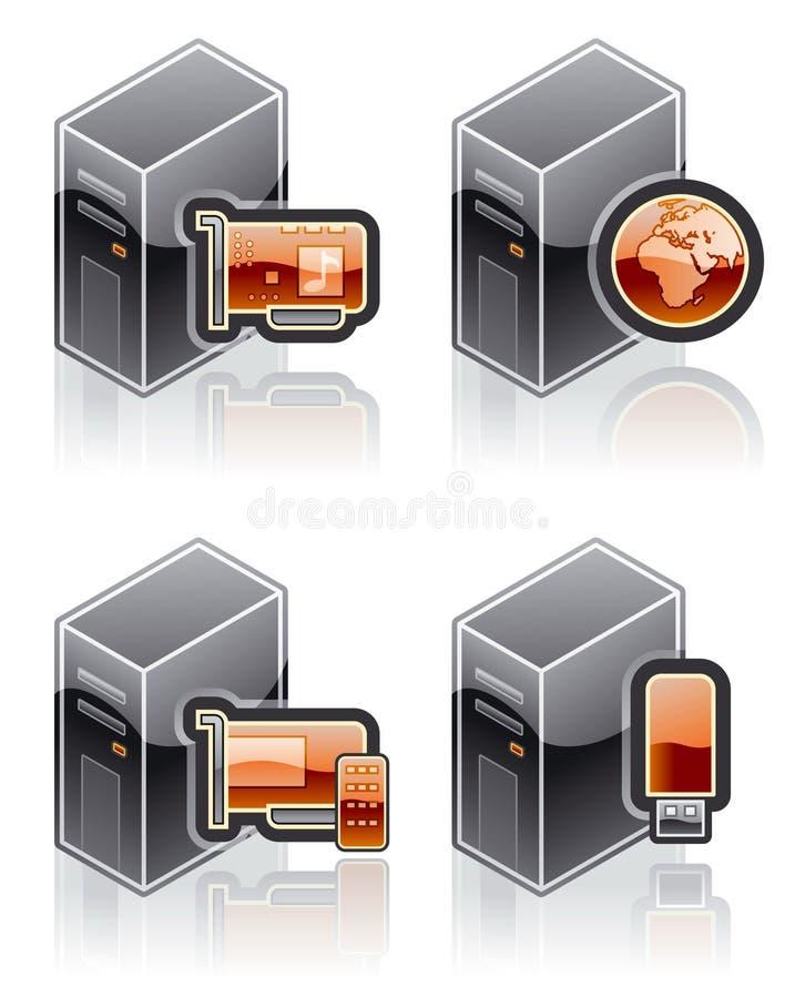 element för design 51j stock illustrationer