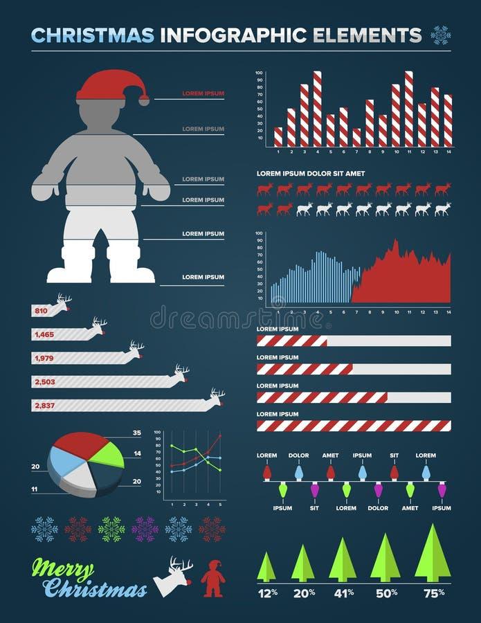 Element för julInfographic design vektor illustrationer