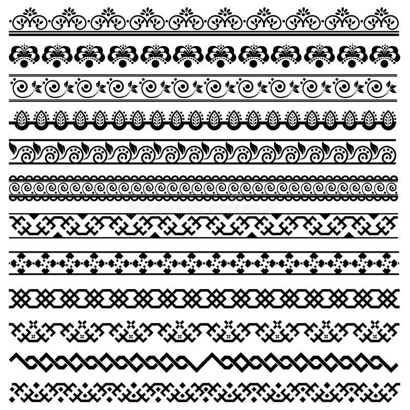 Element För Kantgarneringdesign Arkivbild