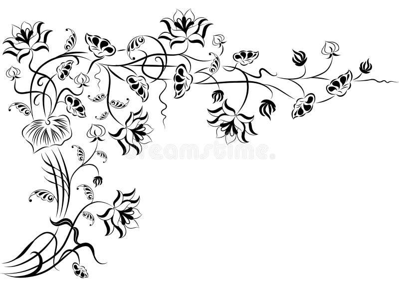 Element für Auslegung, Eckblume, Vektor lizenzfreie abbildung