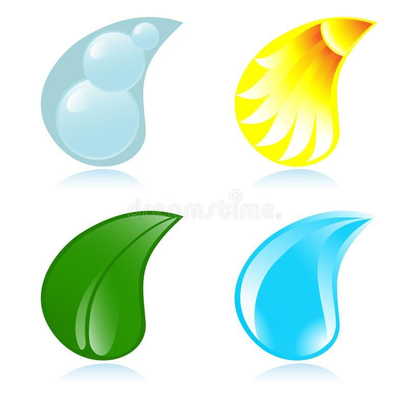 element fyra royaltyfri illustrationer
