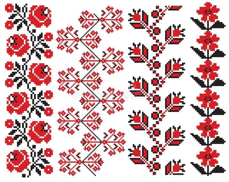 element haftuje deseniowego ukrainian royalty ilustracja